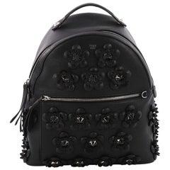 Fendi By The Way Flowerland Backpack Embellished Leather Medium