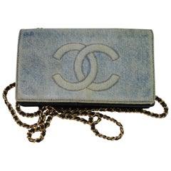 Vintage 1996 Chanel  WOC in Blue denim