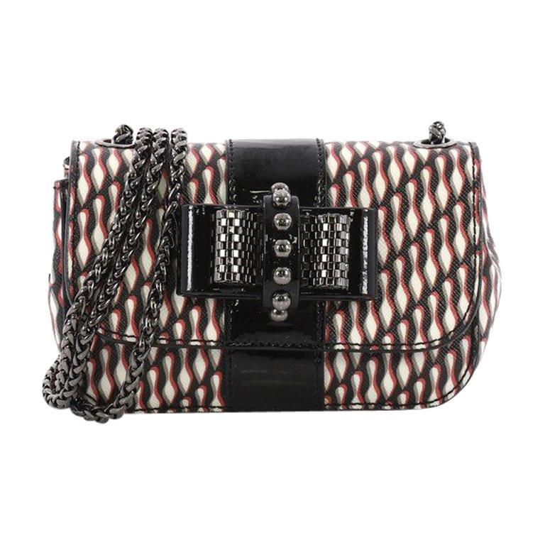Christian Louboutin Sweet Charity Crossbody Bag Printed Leather Mini For Sale