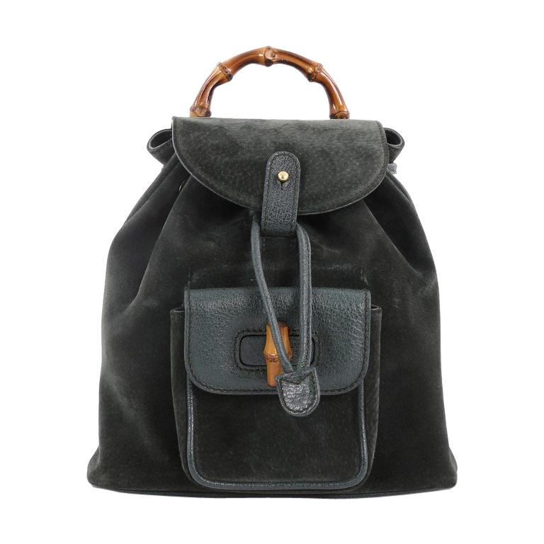 Gucci Vintage Bamboo Backpack Suede Mini at 1stdibs 9ce93c885c