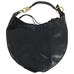 Gucci Black Leather shoulder bag with gold hardware