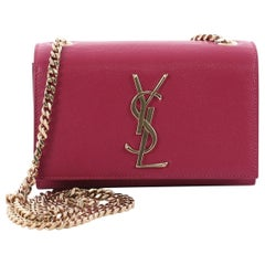 6940774a9c9f Saint Laurent Classic Monogram Crossbody Bag Grainy Leather Small