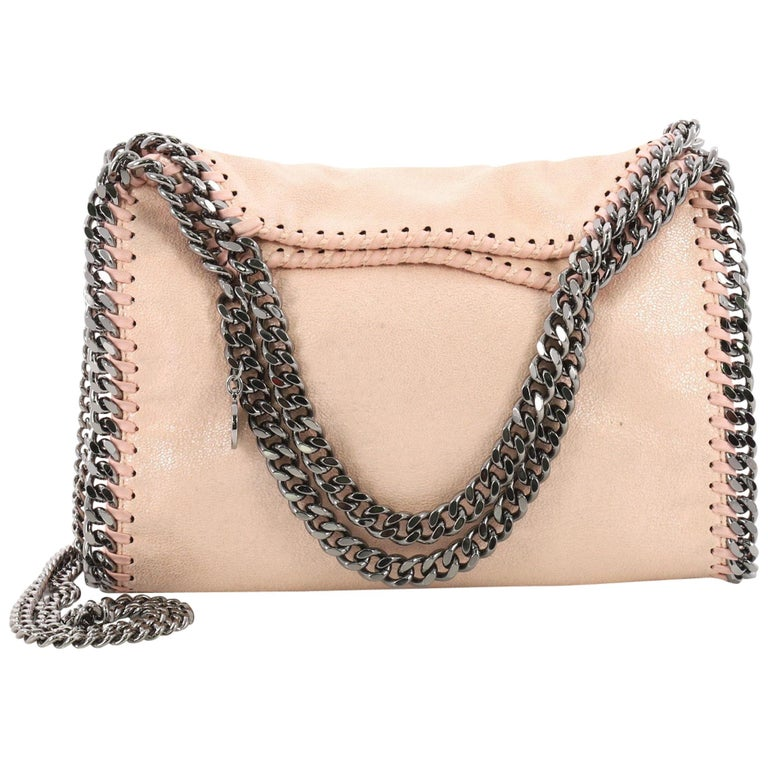 ed752eccbe5a Stella McCartney Falabella Fold Over Crossbody Bag Shaggy Deer Mini For Sale