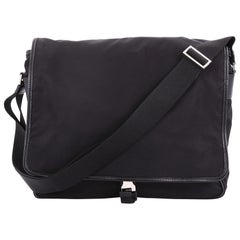 Prada Buckle Messenger Bag Tessuto Medium