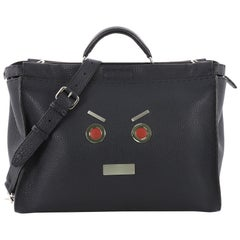 Fendi Selleria Peekaboo Faces Handbag Leather XL