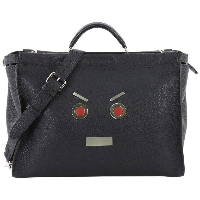 3f0982a5d8a Fendi Selleria Peekaboo Faces Handbag Leather XL at 1stdibs
