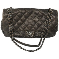 Chanel Olive Caviar Flap
