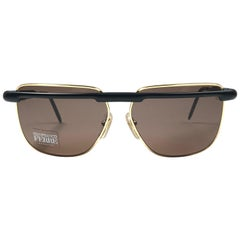 New Vintage Gianfranco Ferré 33 Black & Gold 1990's Made in Italy Sunglasses