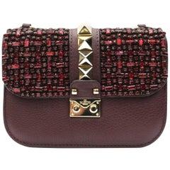 Valentino Bordeaux Leather Rockstude Bag