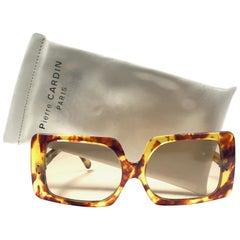 Vintage Pierre Cardin Light Tortoise Brown Lens 1960's Sunglasses