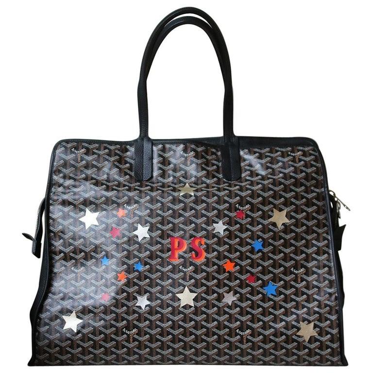 aa3f3b68f8f2b Goyard Personalised Hardy GM Canvas Leather Tote and Dog Bag