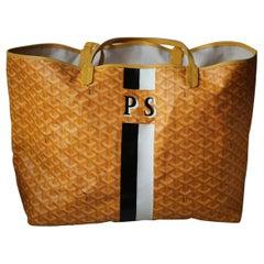 Goyard Personalised Saint Louis GM Leather Tote Bag