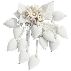 Miriam Haskell Porcelain Brooch