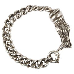BARRY KIESELSTEIN-CROD sterling silver CROCODILE CHAIN Bracelet
