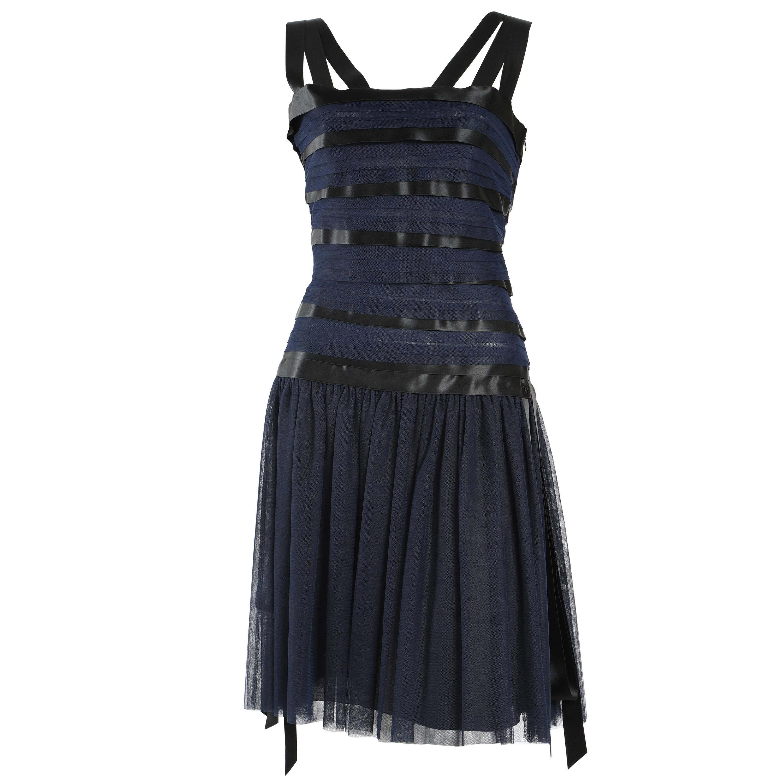 Chanel Runway Ribbon Cocktail Dress