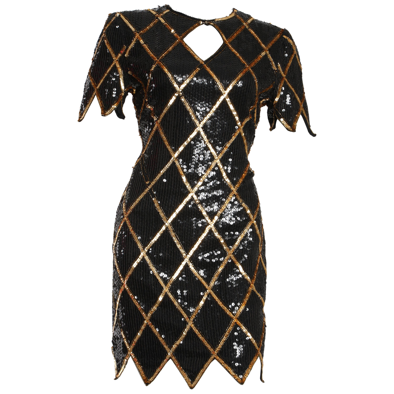 Vintage 1980 La Scala Sequin Dress