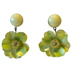 Oversized Flower Statement Earrings by Cilea Paris