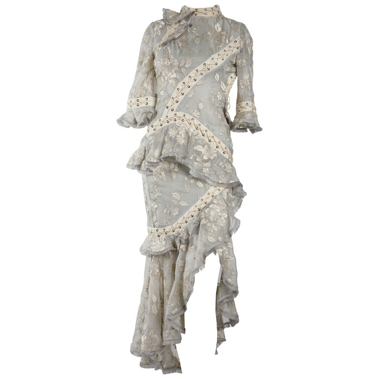 Zimmermann Eyelet Trimmed Gown  For Sale