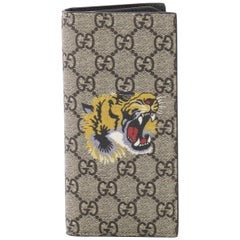 Gucci Bifold Wallet Printed GG Coated Canvas