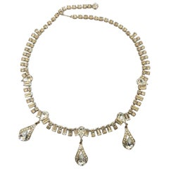 Art Deco Spectacular Rhinestone Pendant necklace