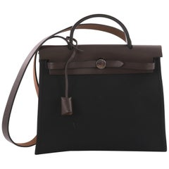 Hermes Herbag Zip Leather and Toile 31,