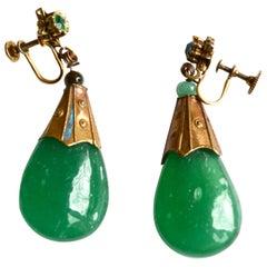 1930s Glass earrings