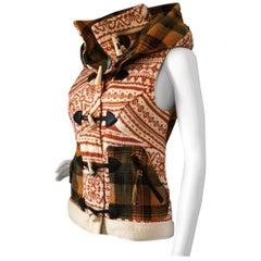 New Da-Nang Knit Wool Vest With Detachable Hood