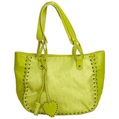Dior Green x Light Green Oblique Jacquard Tote