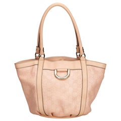 Gucci Pink x Light Pink Guccissima Canvas Tote Bag