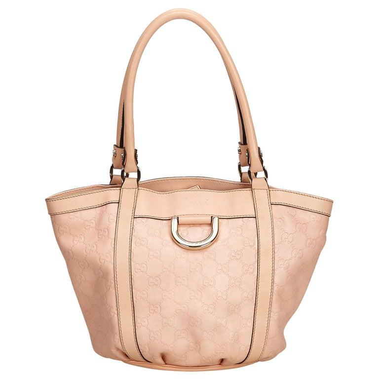 a0f107fa64fb Gucci Pink x Light Pink Guccissima Canvas Tote Bag at 1stdibs