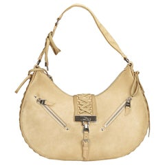 Dior Brown x Beige Suede Admit It Shoulder Bag