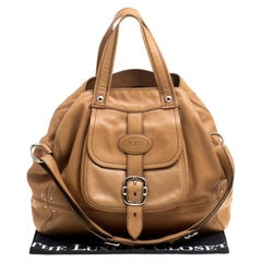 Tod's Brown Leather Large Tote
