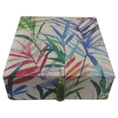 Wild Herbs Pattern Fabric Decorative Storage Box for Scarves