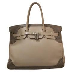 Hermès Argile Etoupe Birkin Ghillies Bag