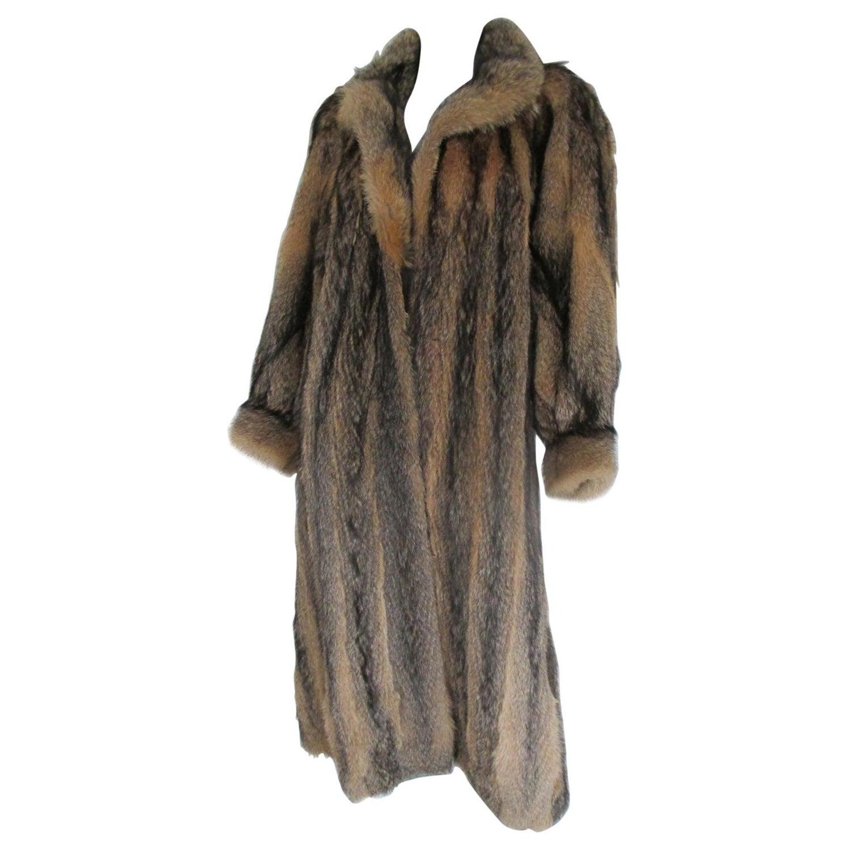 Mink Coat Value >> Vintage Coyote Fur Coat For Sale At 1stdibs