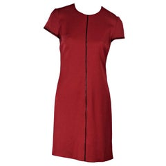 Red Vintage Gianni Versace Stretch-Wool Dress