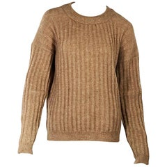 Tan Acne Studios Mohair-Blend Sweater