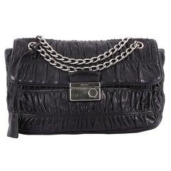 Prada Gaufre Flap Shoulder Bag Nappa Leather Medium
