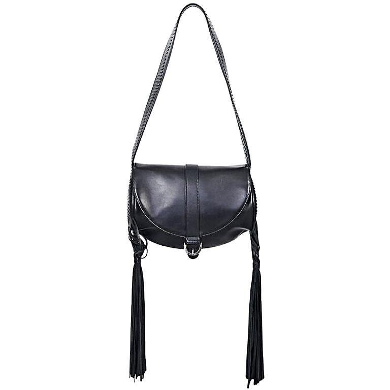 Black Alexander McQueen Leather Tassel Shoulder Bag For Sale at 1stdibs b2d8c47301