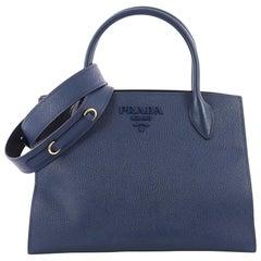 Prada Monochrome Tote Saffiano Leather with City Calfskin Medium
