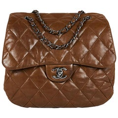 CHANEL Soft Quilted Brown Lambskin Leather Bag