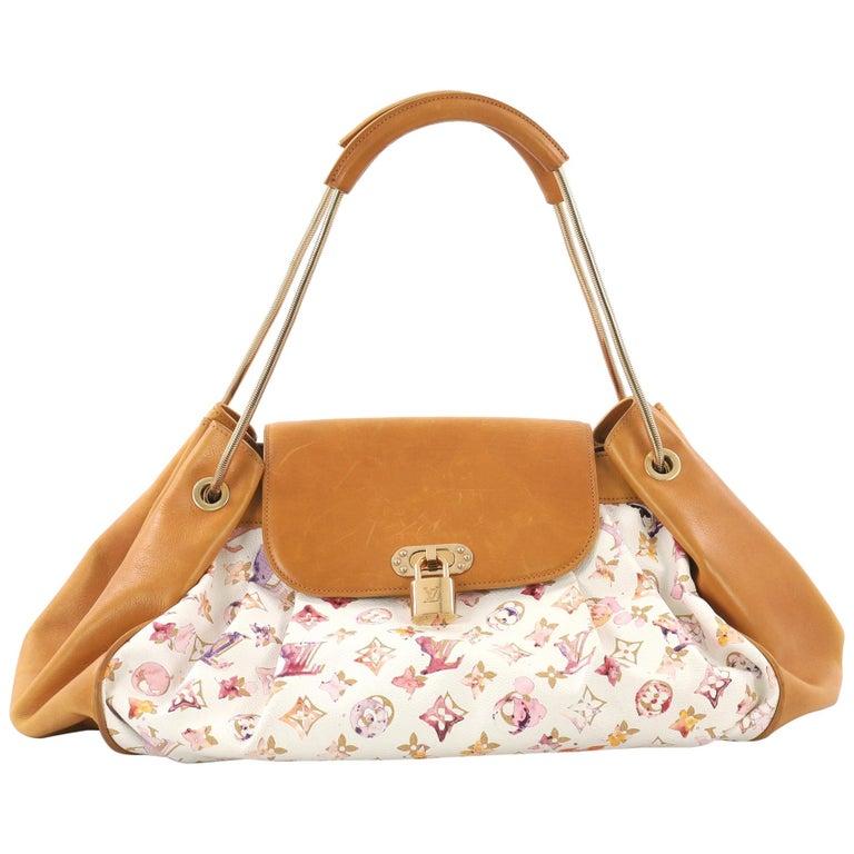 Louis Vuitton Jamais Handbag Limited Edition Aquarelle Monogram Canvas For Sale