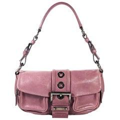 Purple Prada Leather Shoulder Bag