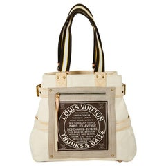 LOUIS VUITTON 'Trunks and Bags' Tote Bag in Tricolor Natural Cowhide & Leather