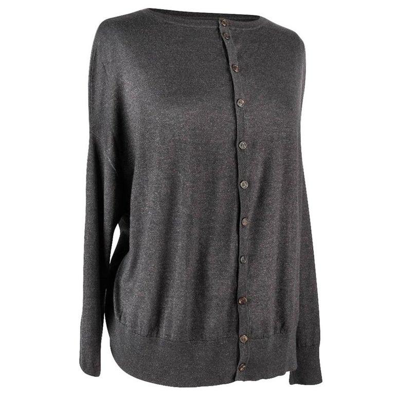 521ddb175a Brunello Cucinelli Cardigan Grey Drop Shoulder S Mint