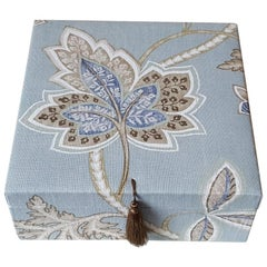 Leaves Pattern Fabric Decorative Storage Box for Scarves
