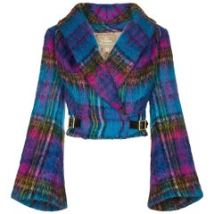 That Vivienne Westwood Gold Label 1993 Tartan Mohair Jacket With Bell Sleeves