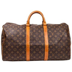 LOUIS VUITTON Keepall 50 Bag in Brown Monogram Canvas