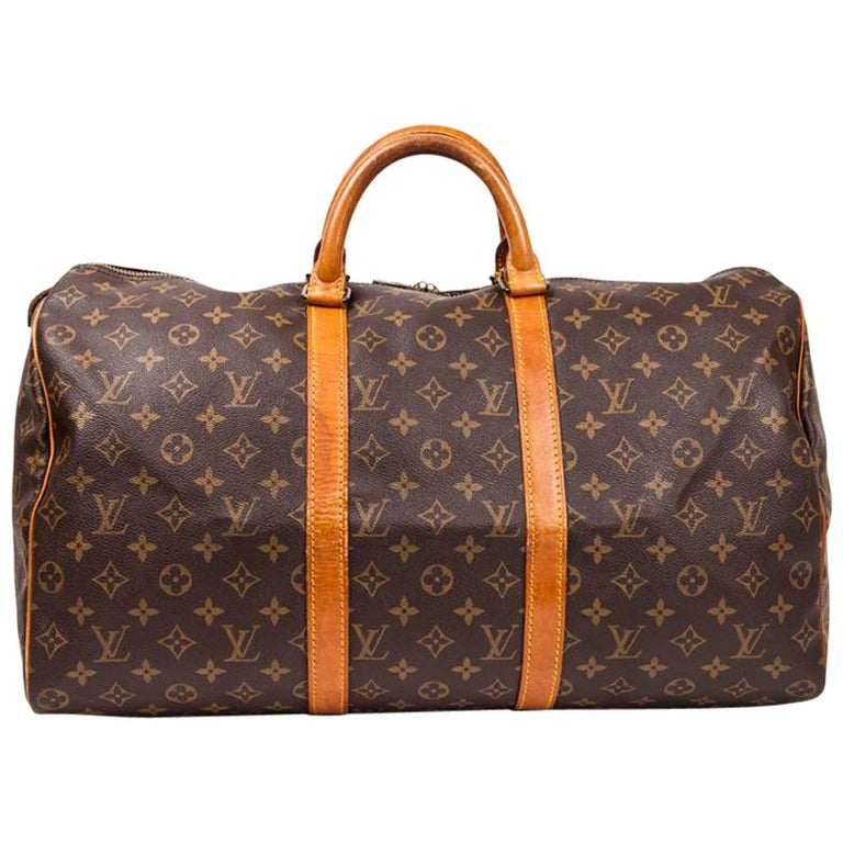 02dd7847d8ed LOUIS VUITTON Keepall 50 Bag in Brown Monogram Canvas For Sale at ...