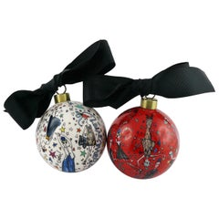 Lanvin Printed Christmas Baubles Set